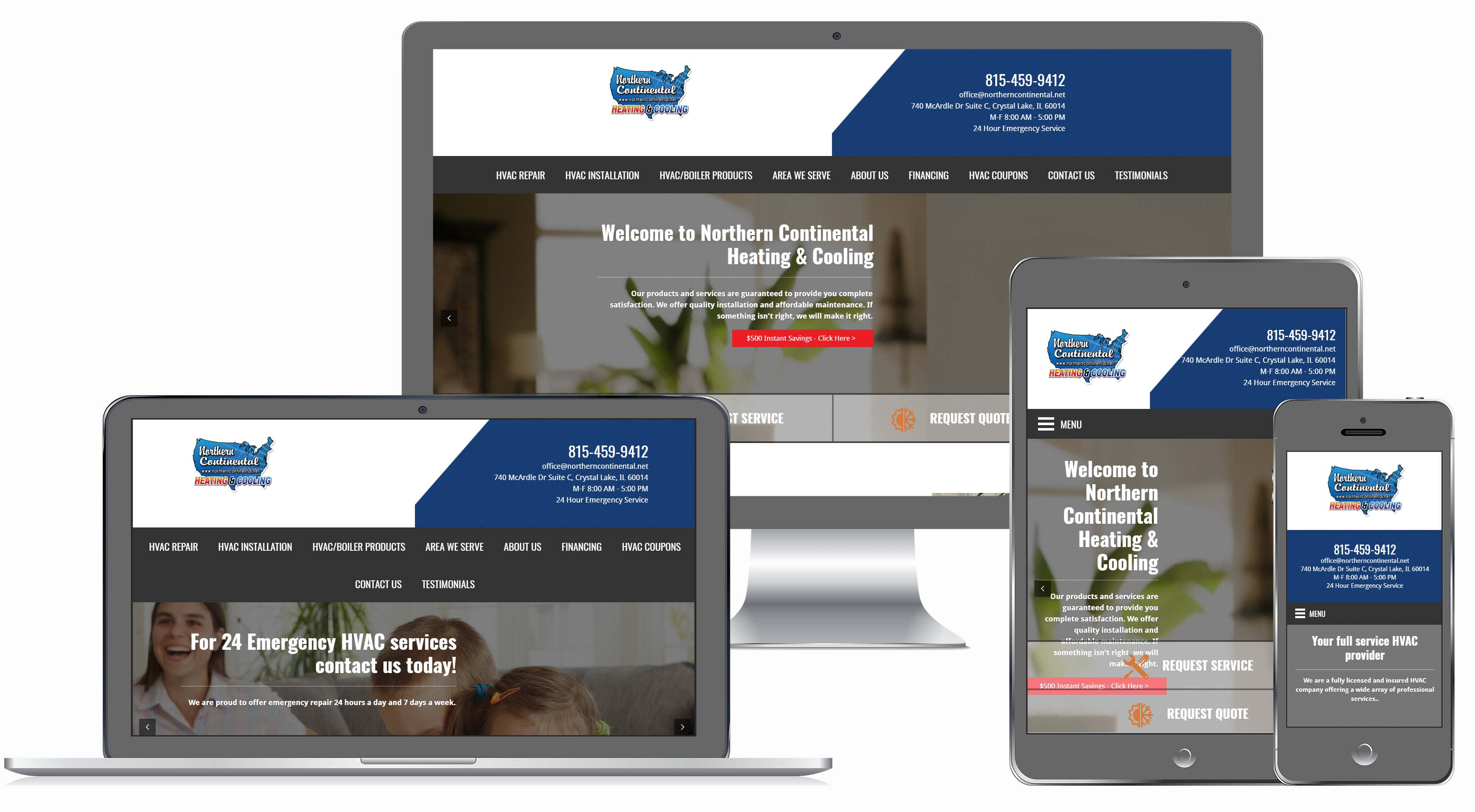 HVAC Contractor Website
