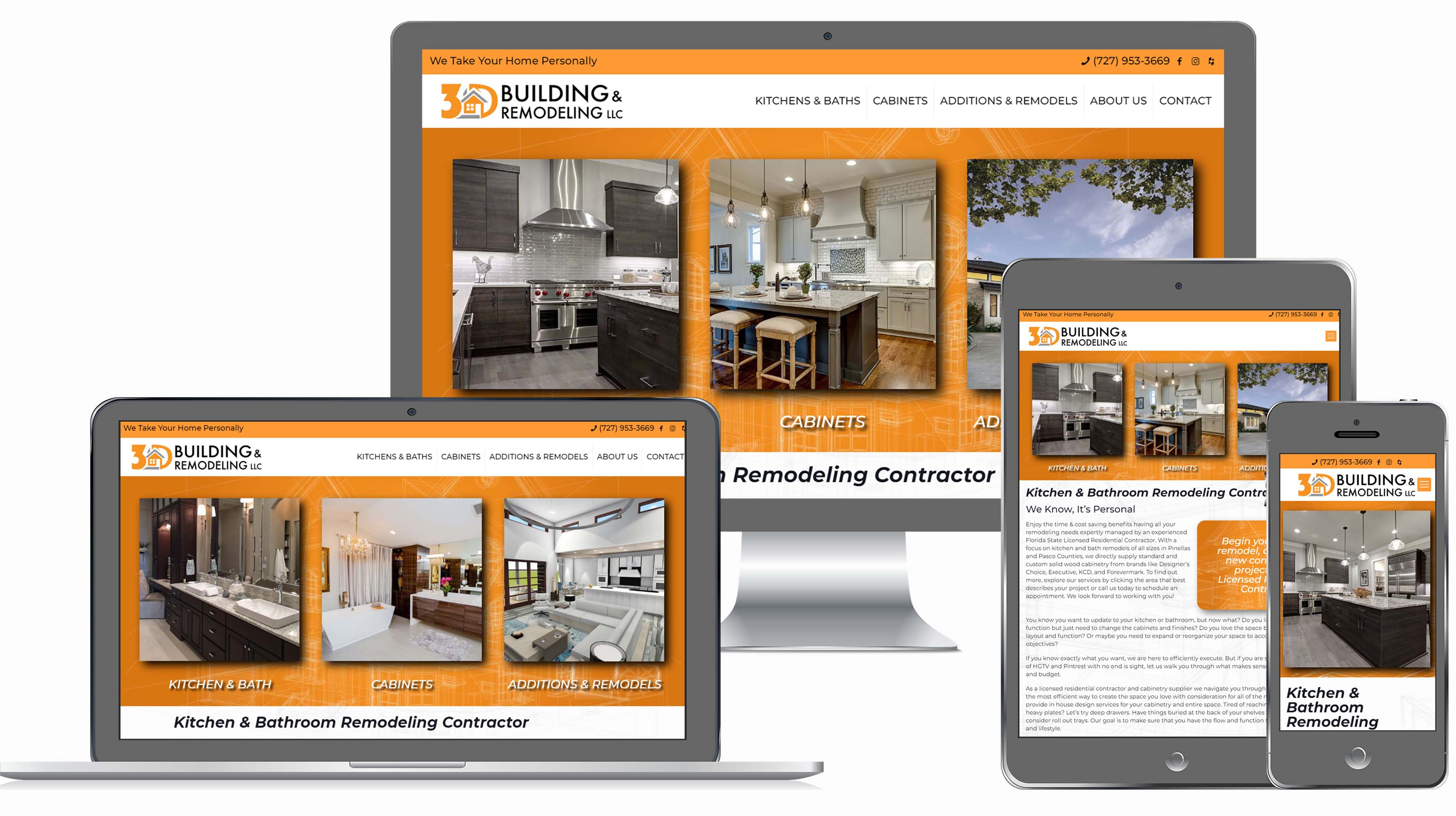 Contractor Website for 3D Building and Remodeling